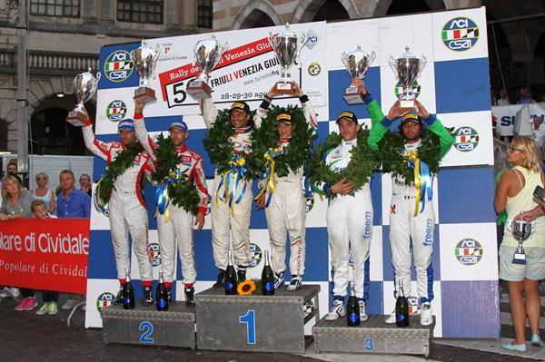 Un eccellente podio per BRC Gas Equipment nel 50° Rally del Friuli Venezia Giulia