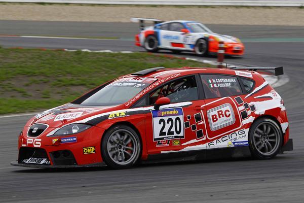 La BRC in gara a Pergusa con la Seat Leon a GPL