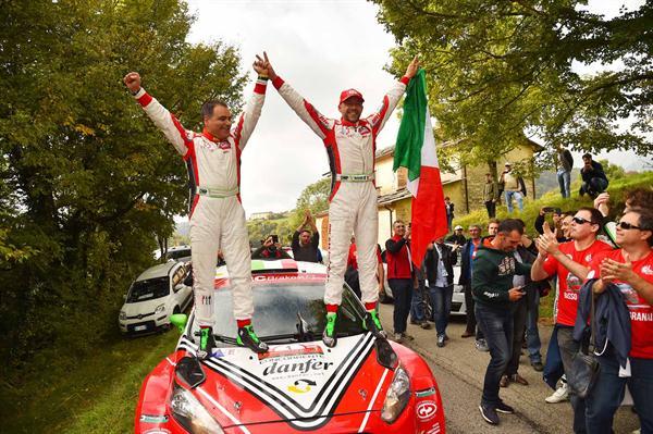BRC è Campione d'Italia Rally 2016 con Basso e Granai