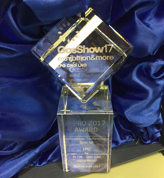 "BRC vince il premio ""Technology Innovation"" all'International GasShow di Varsavia"