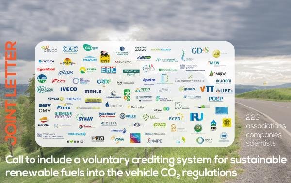 Call to include a voluntary crediting system for sustainable renewable fuels into the vehicle CO2 regulations